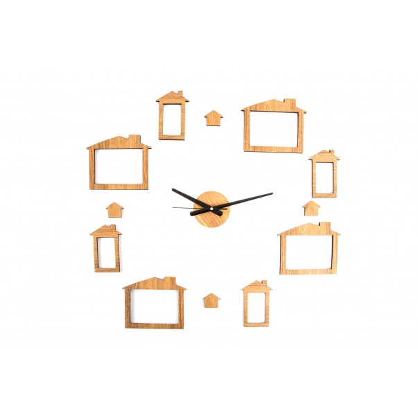 Wall clock with picture frames II