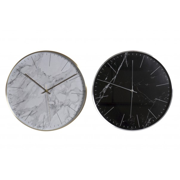 Wall clock marble