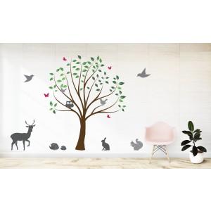 Tree & animals