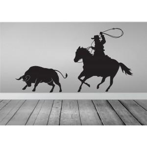 Cowboy & bull