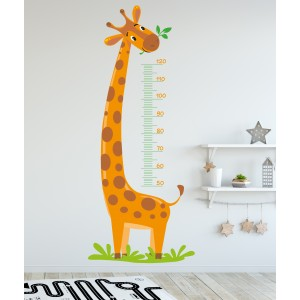 Giraffe with measuring tape
